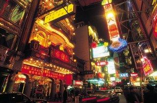 Shanghai China Night Colorful
