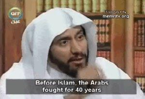 Antes de la llegada del Islam, los árabes combatieron durante 40 años...