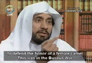 ... para defender el honor de una camella. Esto ocurrió durante la Guerra Busous.