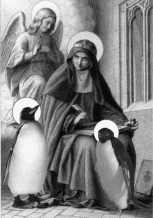 San Mael, San Tux, San Crisóstomo Avícola y un ángel que pasaba por ahí...