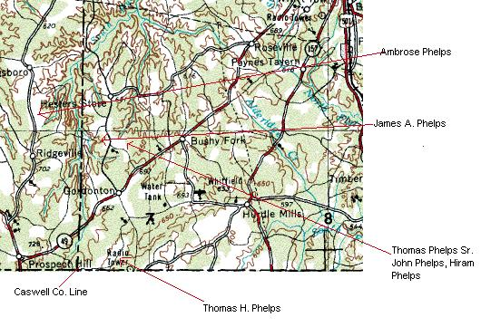 Thomas Phelps Sr S Person County Nc Lands