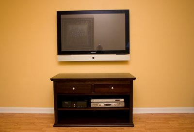 After:  Flat Panel on Wall