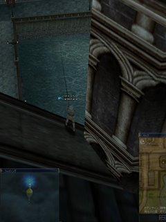 屋根の上で釣り