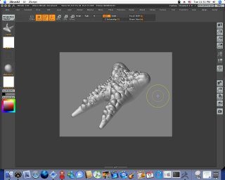 What a pleasant surprised. Zbrush 2.03 actually works out of the box in Ma