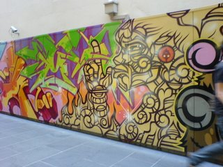 graffiti on Melbourne Central