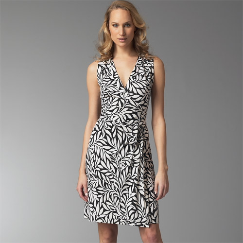Diane Von Furstenberg Laurel Leaf Kelly Justin Wrap Dress
