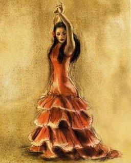 Flamenco-Dancer-I by Caroline Gold