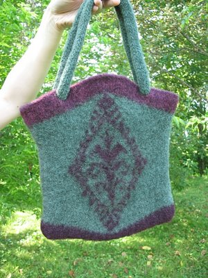 Lite-Lopi felted bag