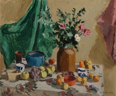William Goodridge Roberts, Still life, Oil on masonite, 30x25