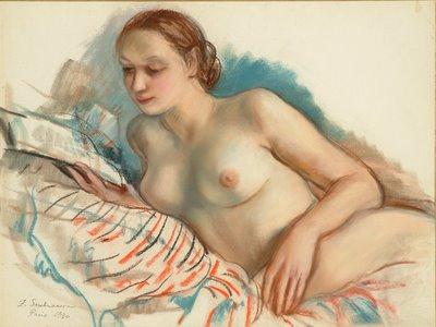 Zinaïda Evguenievna Serebriakova (1884-1967) Nude, Pastel on Ingres paper, 19x25