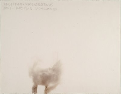 Cai Guo-Qiang, Project for the extraterrestrials No. 8, Gunpowder on paper, 20x26
