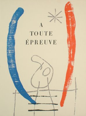 Joan Miro (1893-1983) A tout Epreuve, a book with 79 illustrations, numbered 75/106