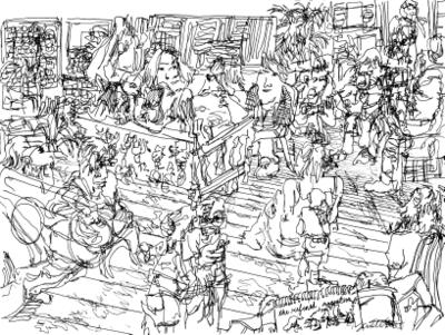 James Culleton's drawing of The Refined at Zeke's Gallery