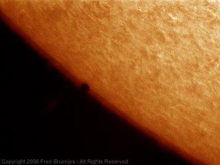 Fotografía del tránsito de Mercurio de Fred Bruenjes 2
