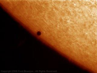 Fotografía del tránsito de Mercurio de Fred Bruenjes 3