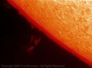 Fotografía del tránsito de Mercurio de Fred Bruenjes 1