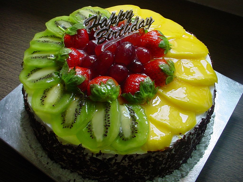 Birthday Cake Decorated With Fruits : Birthday Cakes With Fruit ~ Image Inspiration of Cake and ...