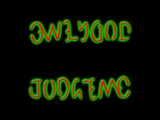 only god can judge me ambigram