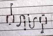 daisy ambigram