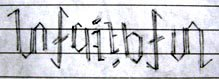 unfaithful ambigram