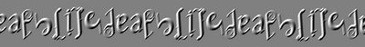 life death chain ambigram