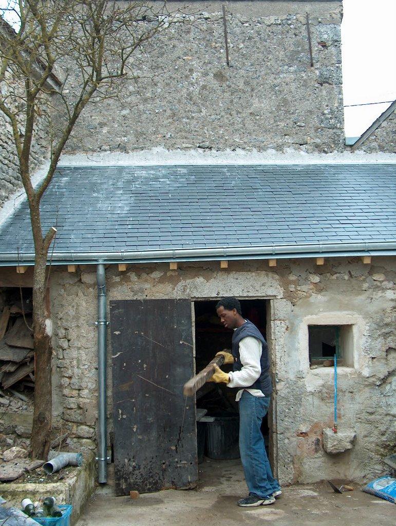 Maison verdes vue exterieure de la maison apr s travaux for Avis sur la maison des travaux