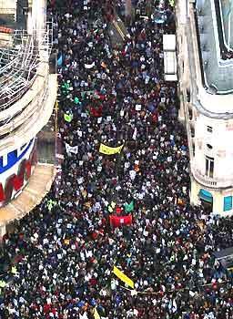 March against war 15 February 2003