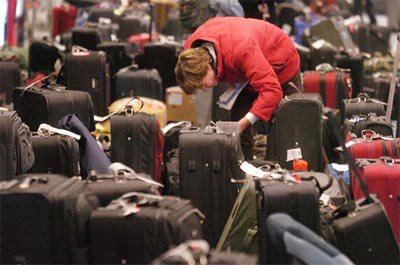 "USE PARSIMONY IN PACKING BECAUSE THE AIRLINES LOVE TO LOSE YOUR BAGS. DELTA AIRLINES: ""LOST LUGGAGE IS US"""