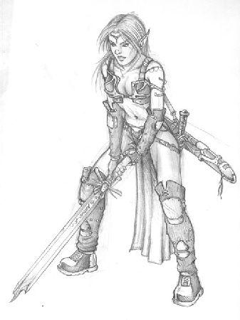 Ewilan73 juin 2006 - Dessiner un elfe ...