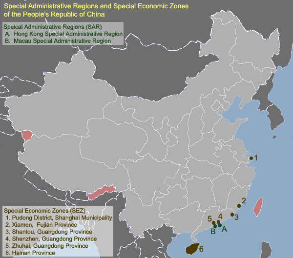 a summary of chinas five special economic zones and their locations 75 chapter-5 special economic zones (sezs) and export oriented units (eous) of in-principle approval and its extension • providing for a lease period of not less than five.