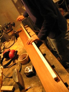 Greenland paddle making