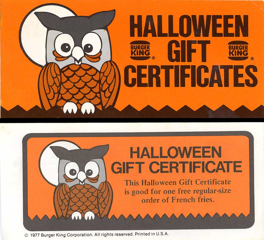 Neato coolville 1977 halloween gift certificates booklet 1977 halloween gift certificates booklet 1betcityfo Image collections