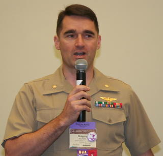 USMC active duty panelist Greg Rouillard