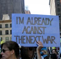 I'm already against the next war - photo taken by ianqui 04/29/2006