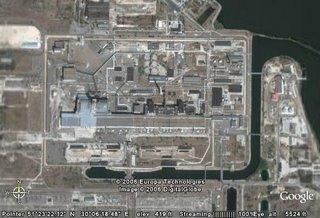 Google Map satellite image of Chernobyl