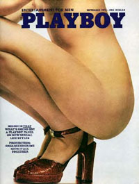 Playboy cover from September, 1973
