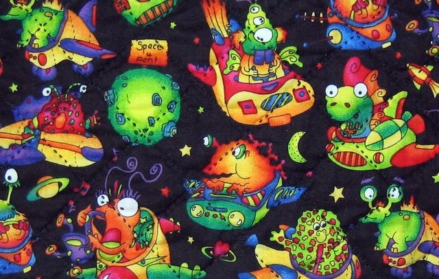 Lazy gal quilting space 4 rent quilting for Alien fabric