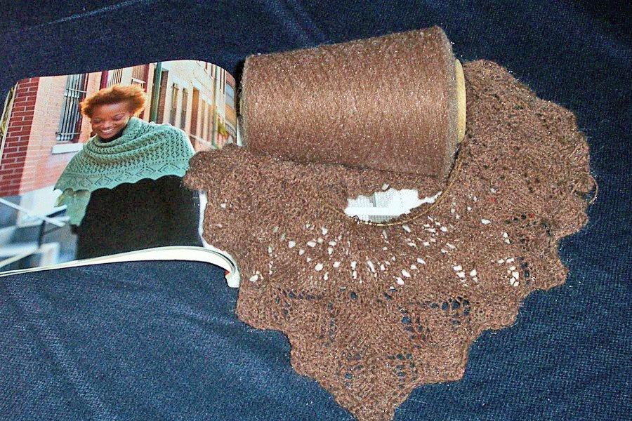 Knitting Nancy Machine : My sewing and knittantics new knitting project ene shawl