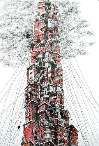 붉은벽돌 연립주택 바벨탑(신림 본동) / Babel tower of red brick housing, Sillim bon-dong