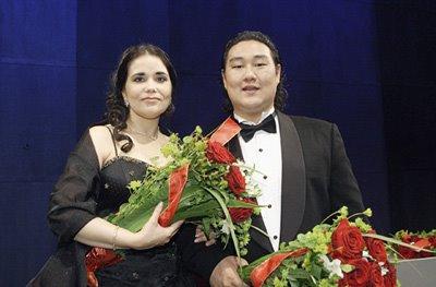 Eglise Gutierrez and Kim Woo-Kyung