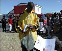 Anele distributing YEM application forms