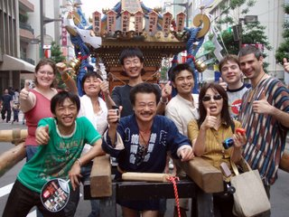 Group Photo with the Mikoshi