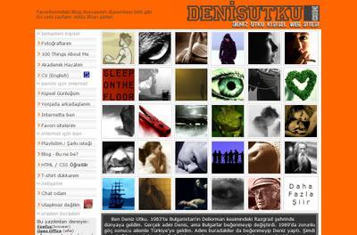 denisutku dot com snapshot at 22 Oct 2005
