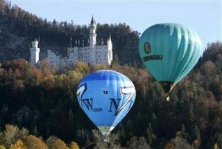 Balloons flying in Schwangau