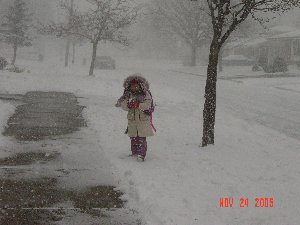 walking home from school
