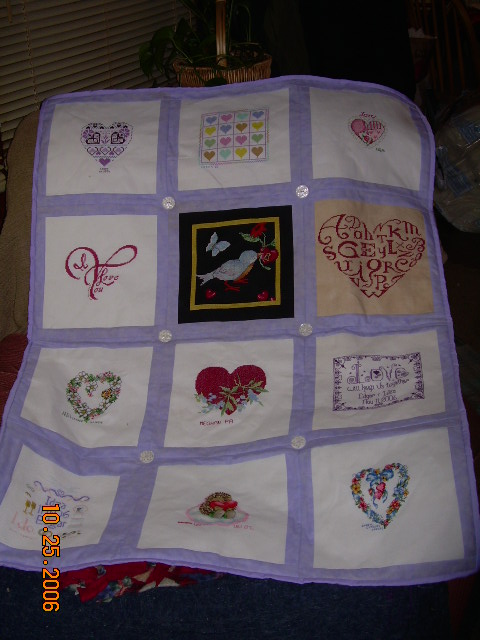 Quilt Patterns For Wedding Gifts : Kim s Northwoods Discoveries: Cross Stitch Quilt - Wedding Gift