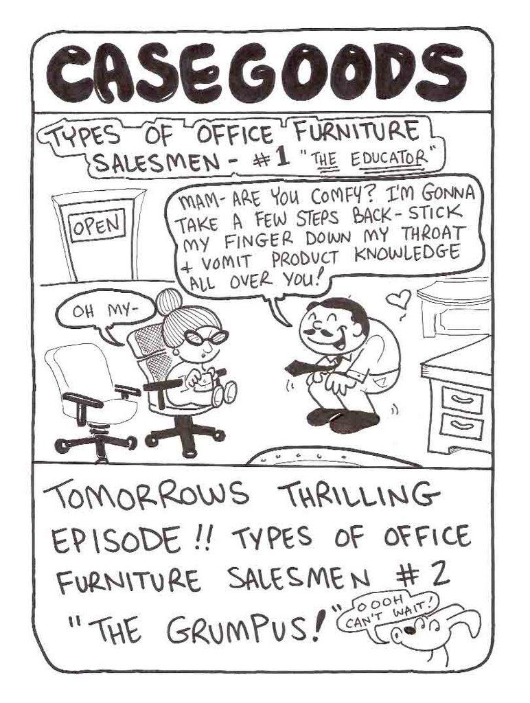 nobody likes jamie cosley casegoods office furniture humor