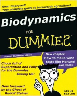 "Parody book cover ""Biodynamics for Dummies"""