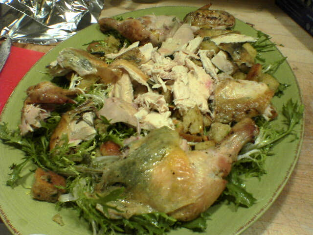 photograph picture of zuni chicken salad i made at tante marie cooking scool