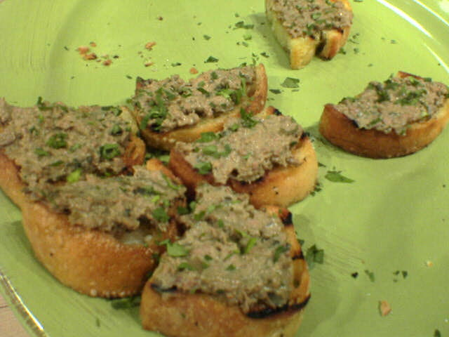 photograph picture chicken liver crostini tante marie
